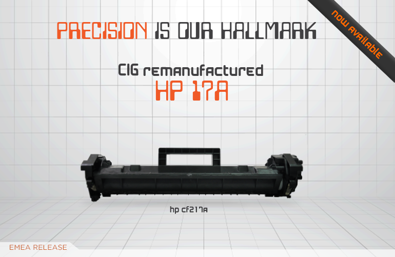 CIG's remanufactured replacement for the HP17A toner cartridge!