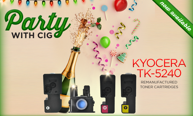 CIG introduces remanufactured colour toner cartridges Kyocera TK-5240!